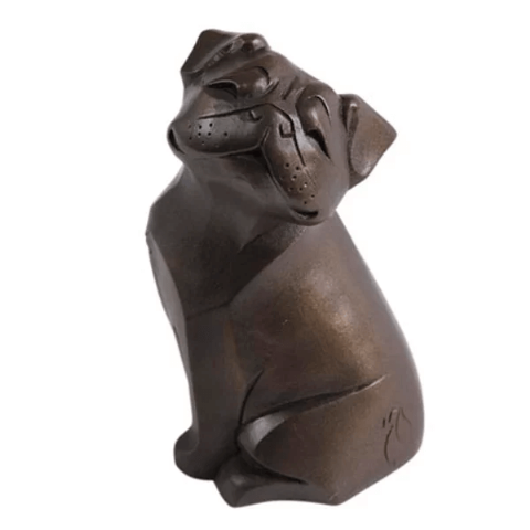 Smooth Pug Cold Cast Bronze Sculpture